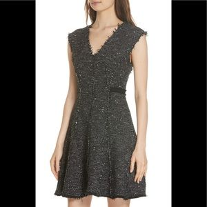 REBECCA TAYLOR Sparkle Tweed Fitflare Dress NWT 10